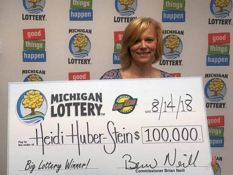 Heidi Huber-Stein winner of a 100k Club Keno prize