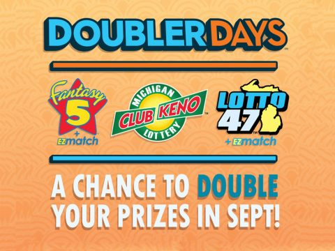 Michigan Lottery's Doubler Days promotion logo