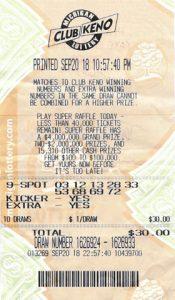 Teisha Hitchcock's winning ticket