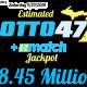 Lotto 47 Jackpot Estimated At $8.45 Million
