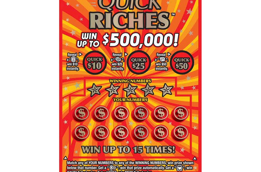 MI lottery Quick Riches game ticket