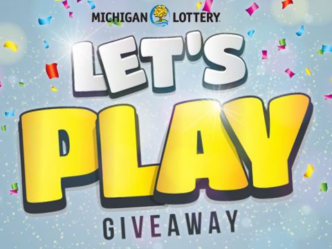 Michigan Lottery Let's Play Giveaway on celebration background