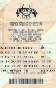 Jeffery Heinig's winning Lucky for Life ticket