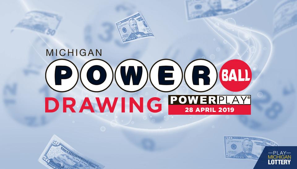 Powerball Drawing 28 April 2019 Playmichiganlottery Com