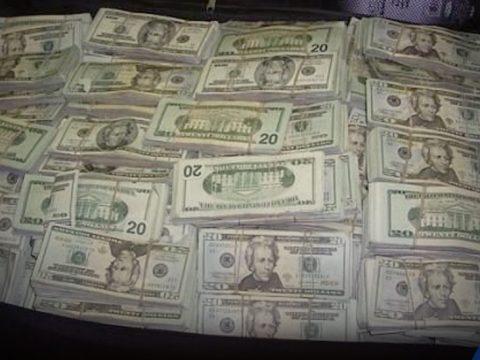 bag full of unclaimed cash