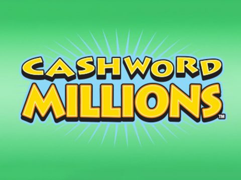 Yellow Cash Word Millions text on green background.