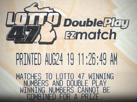winning ticket - Ogemaw County player claims $17.1 million Lotto 47 prize