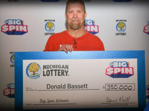 Donald Bassett of Mecosta County Wins $350,000 on The Big Spin show