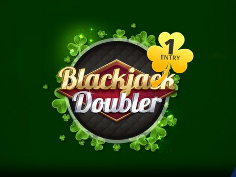 march 28, 2020 Shamrock Play featured game - Blackjack Doubler game logo