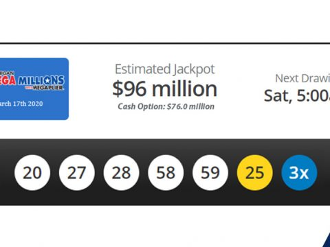 Mega Millions results from Tuesday, March 17th 2020