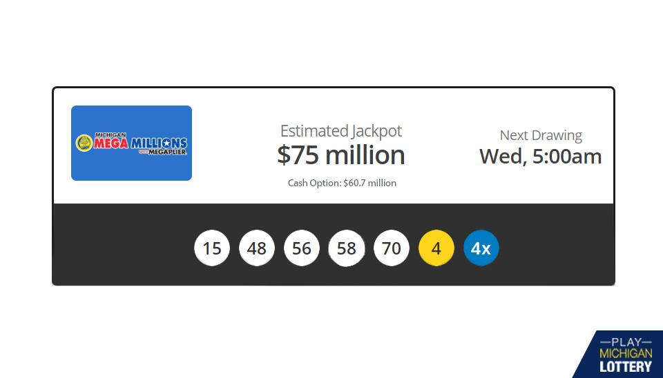 Michigan Lottery Results Mega Millions Friday March 06 Playmichiganlottery Com