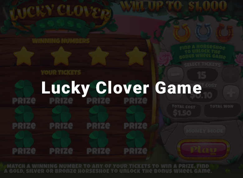 Michigan Lottery's Lucky Clover game image