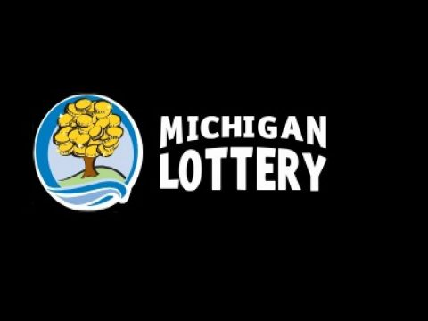 Michigan Lottery with money tree logo on black background