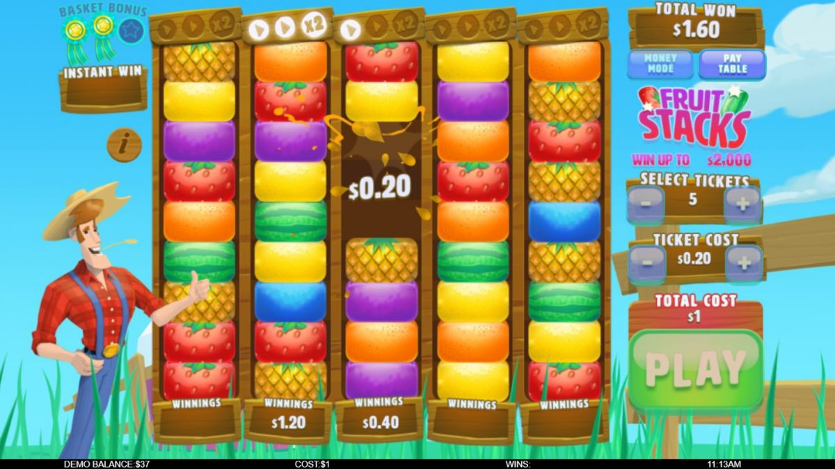 Fruit Stacks Instant Win Game