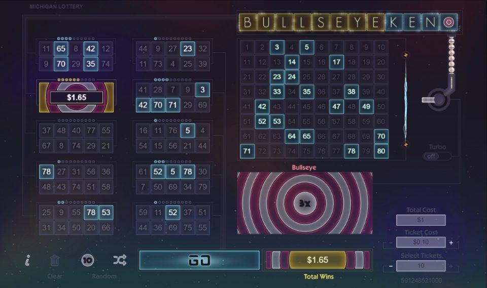 Play Bullseye Keno For Chance To Win